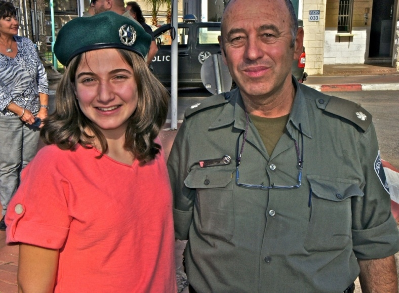 Maya with an Israeli Soldier as a part of FIDF