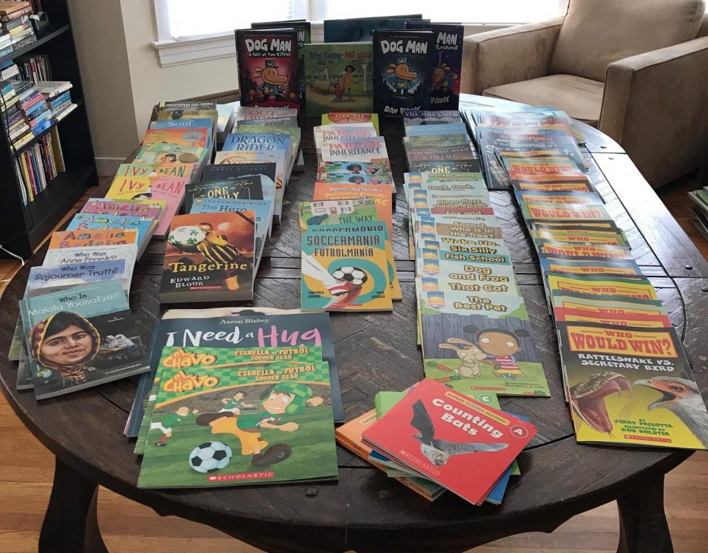 Books donated to the Jewish Coalition for Literacy